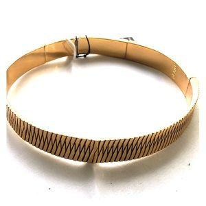 Anthropologie LUV AJ Golden Collar Necklace